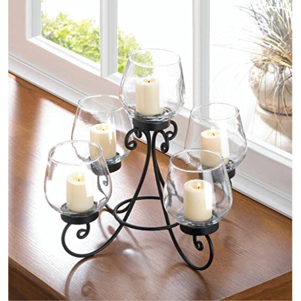 Candleholders Enlightened Candleholder Centerpiece Stunning Dining Room Table Accent New Walmart Com Walmart Com