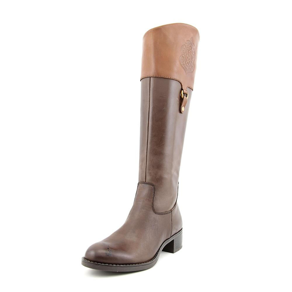 Franco Sarto Clarity Women Round Toe Leather Brown Knee High Boot by Franco Sarto