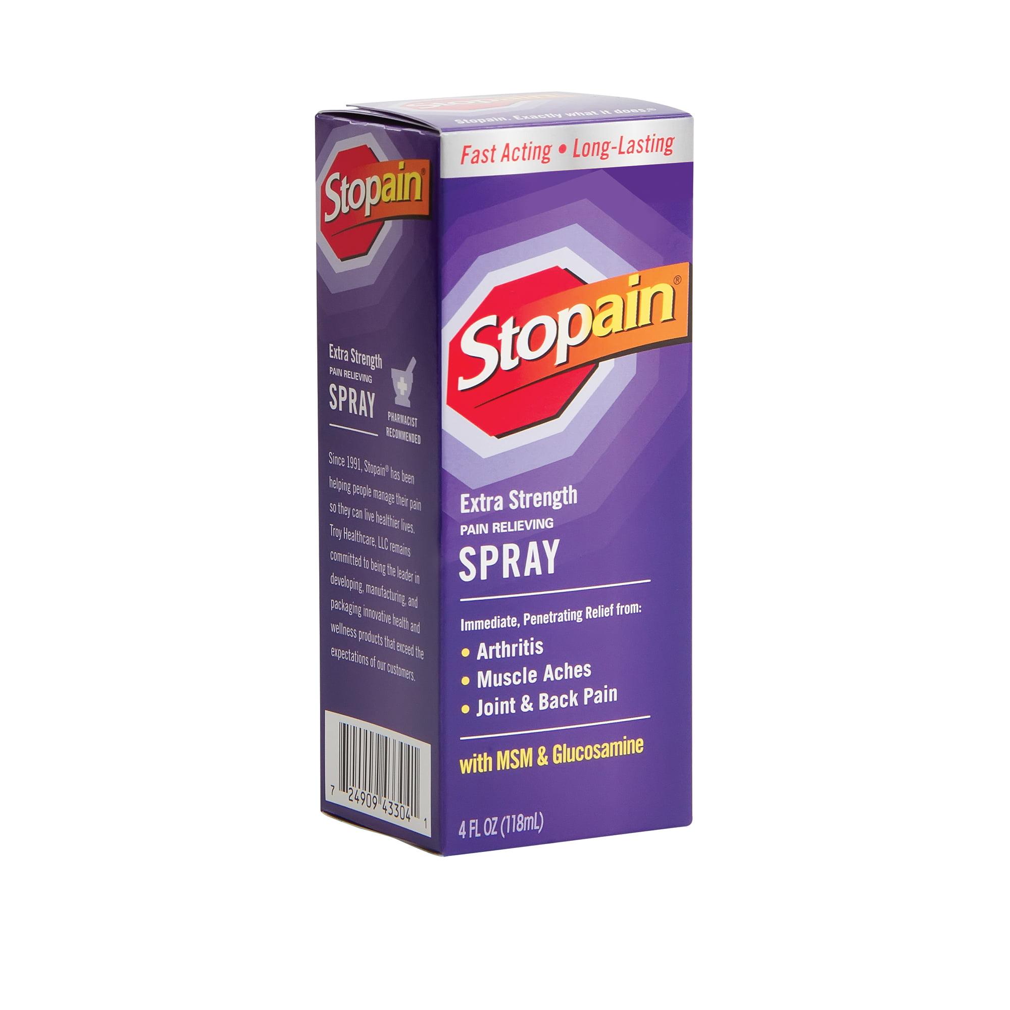 Stopain Pain Relief Extra Strength Spray 4 Fl Oz