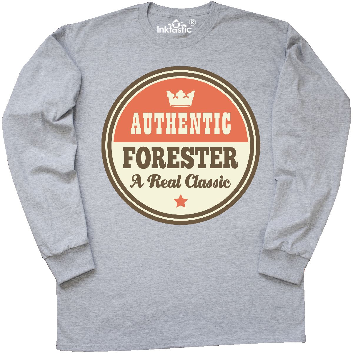 Inktastic Forester Vintage Classic Long Sleeve T-Shirt Gift Retired Retirement