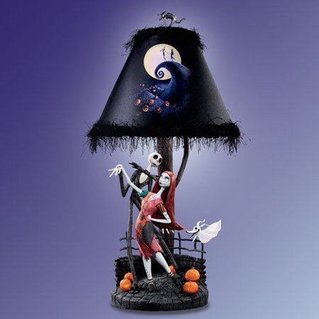 disney the nightmare before christmas moonlight bradford exchange lamp