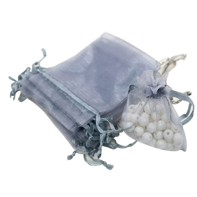 100PCS Wedding Party Organza Gift Bags Jewelry Drawstring Mesh Pouches
