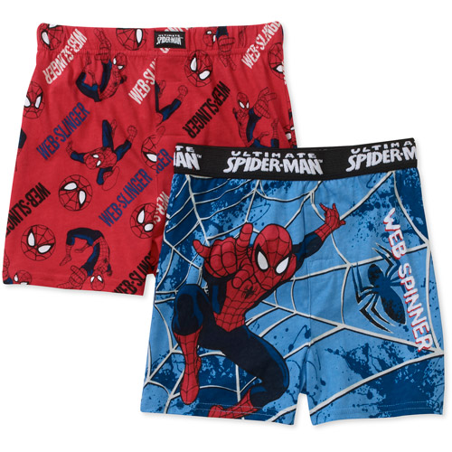 Marvel Boys' Knit Boxers, 2-Pack