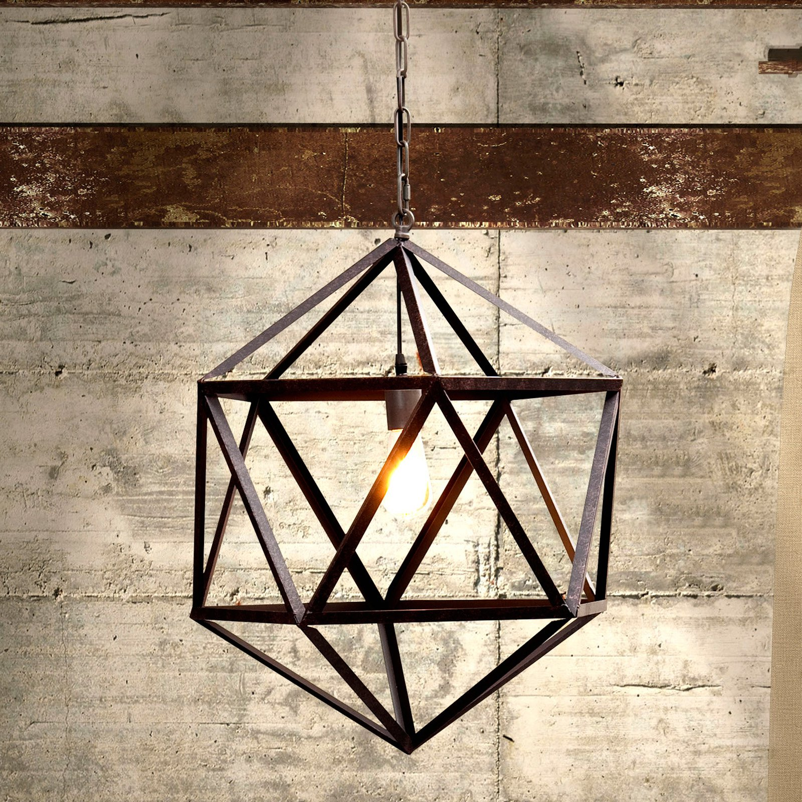 Zuo Modern Amethyst Ceiling Lamp - Large - Rust