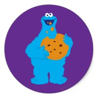 "Sesame Street Cookie Monster Birthday Edible Image Photo 8"" Round Cake Topper Sheet Personalized Custom Customized Birthday Party"