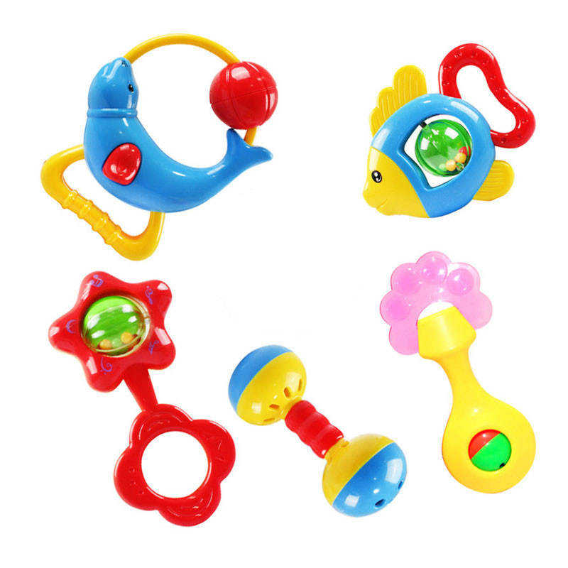 Animal Handbells Developmental Toy Bells Kids Baby Rattle Lovely