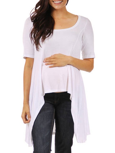 Women's Extra Long Maternity Tunic Top