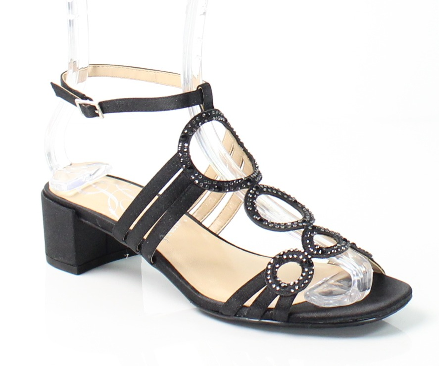 J. Renee New Black Terri Shoes Size 7.5N Ankle Strap Sandals by J. Renee