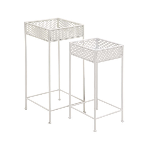 Woodland Imports 2 Piece Plant Stand Set by Woodland Imports