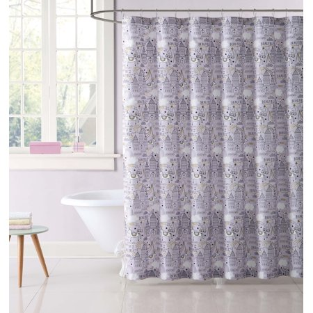 My World Unicorn Princess Printed Shower Curtain