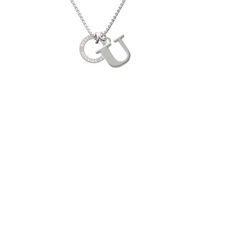 Best Friend Eternity Ring Capital Initial U Necklace