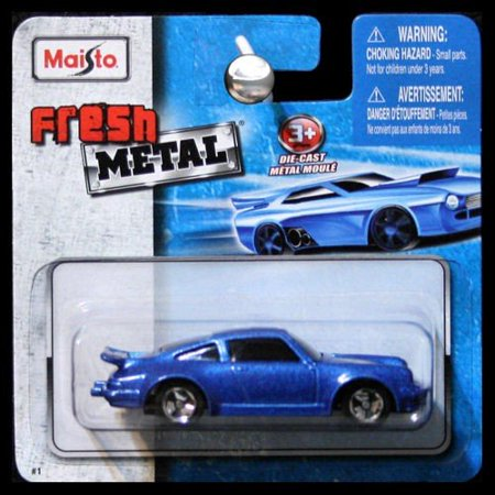 Fresh Metal Die-Cast Vehicles ~ Porsche 911 Turbo #3 (Metallic Blue), Maisto Fresh Metal Die-Cast Vehicles By Maisto From (1989 Porsche 964 Carrera 4 For Sale)