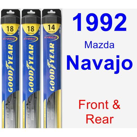 - 1992 Mazda Navajo Wiper Blade Set/Kit (Front & Rear) (3 Blades) - Hybrid