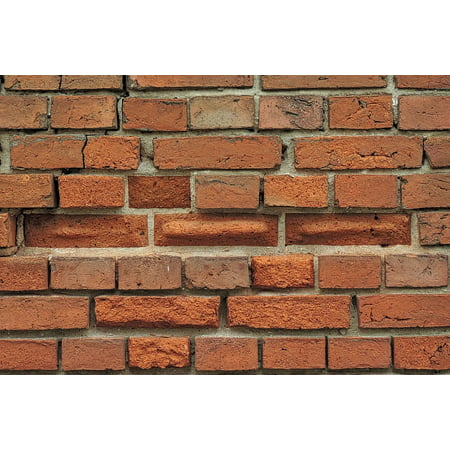 LAMINATED POSTER Break Up Bricks Stone Wall Old Brick Wall Wall Old Poster Print 24 x