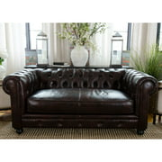 Elements Fine Home Furnishings Estate Top Grain Leather Loveseat