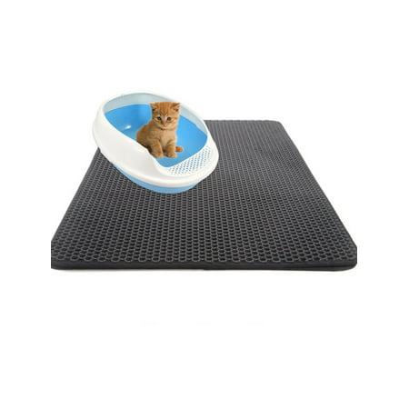 Double Layer Cat Litter Box Mat Trapper Foldable Pad Pet Rug EVA Foam -
