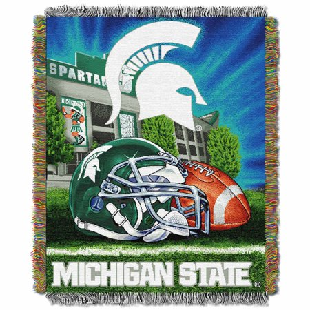Michigan State Woven Tapestry Throw Blanket