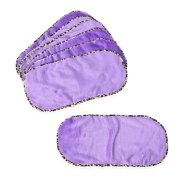 Set of 6 Purple 100% Polyester Makeup Remover Towel Face Cleansing Pads Mothers Day Gifts