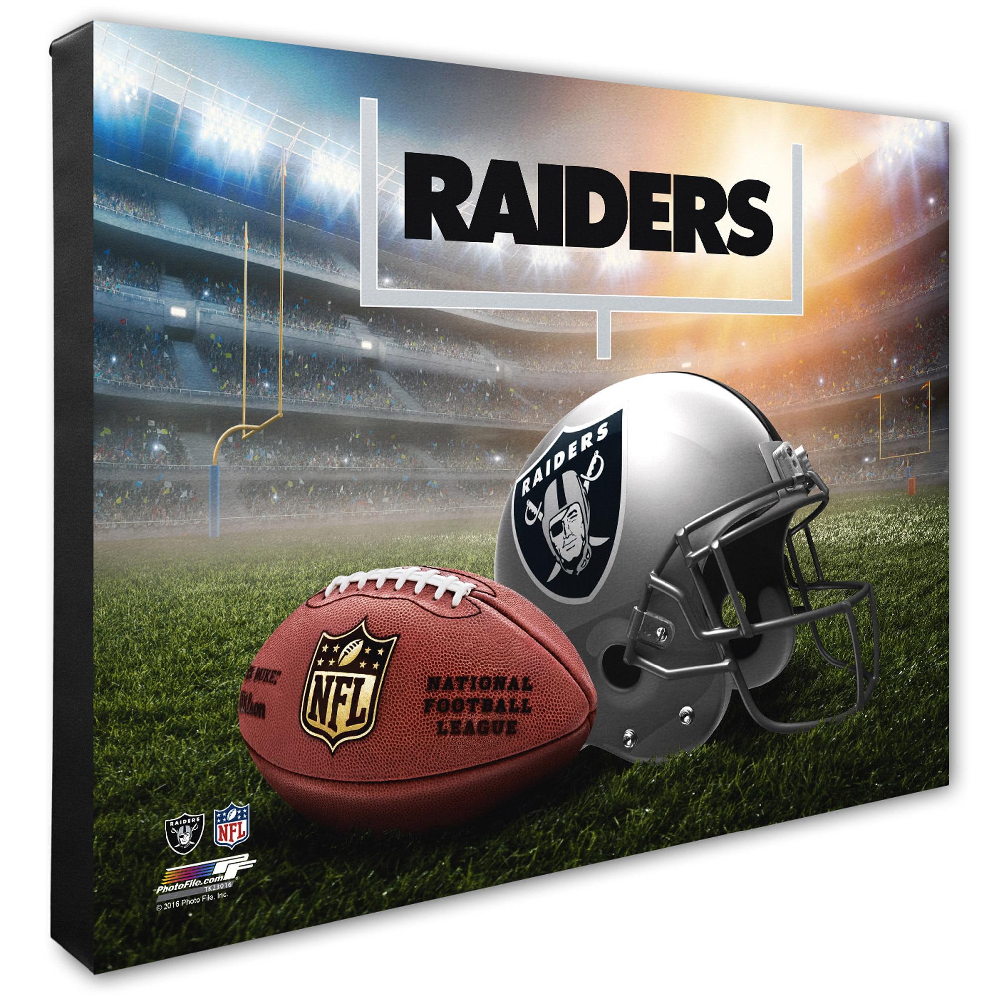 "Oakland Raiders 20"" x 24"" Helmet & Stadium Canvas - No Size"