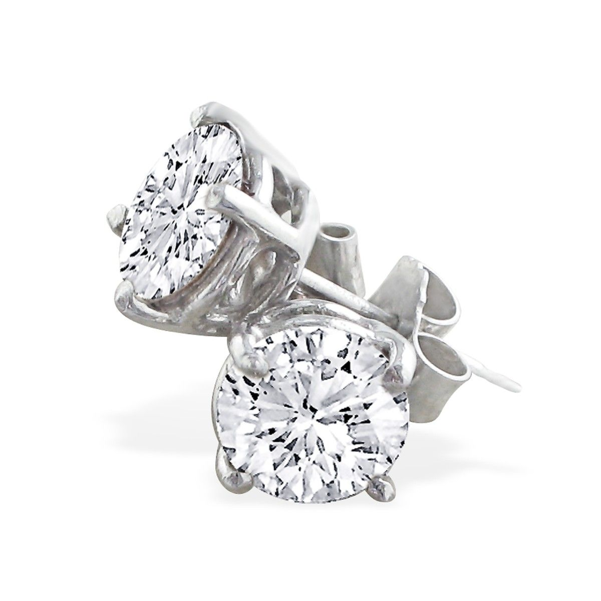 1 Carat Diamond Stud Earrings Set In Platinum, Screwbacks by SuperJeweler
