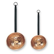 Hammered Décor Copper Ladles w/Wrought Iron Handles, Set of 2