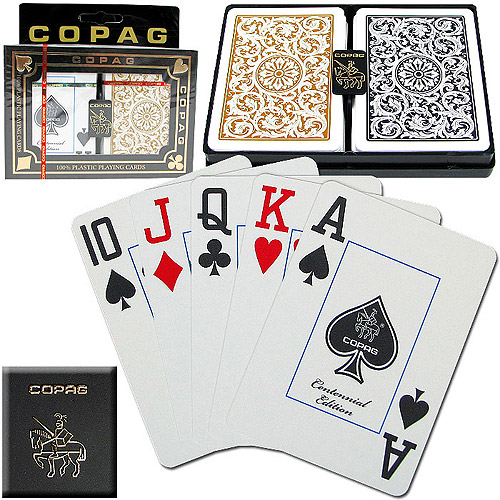 Trademark Poker Copag 1546 Design Jumbo Index Poker Cards, Gold/Black