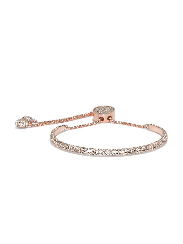 Vince Camuto VJ-600051 Pave Slider Round Bracelet, Rose Gold-Plated Metal