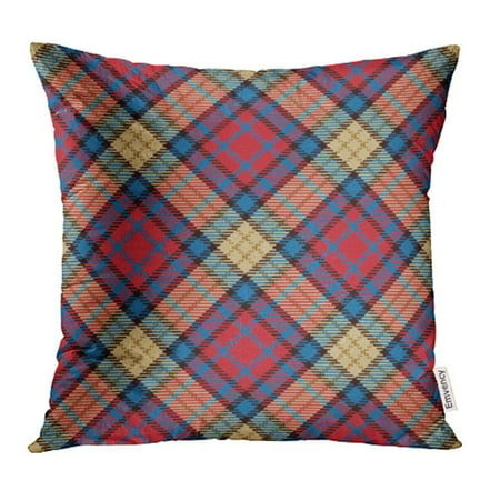 ARHOME Abstract Plaid Tartan Traditional Scottish Tiles Trendy for Ancient British Buffalo Pillow Case Pillow Cover 20x20 inch Throw Pillow Covers Shaw Ancient Tartan