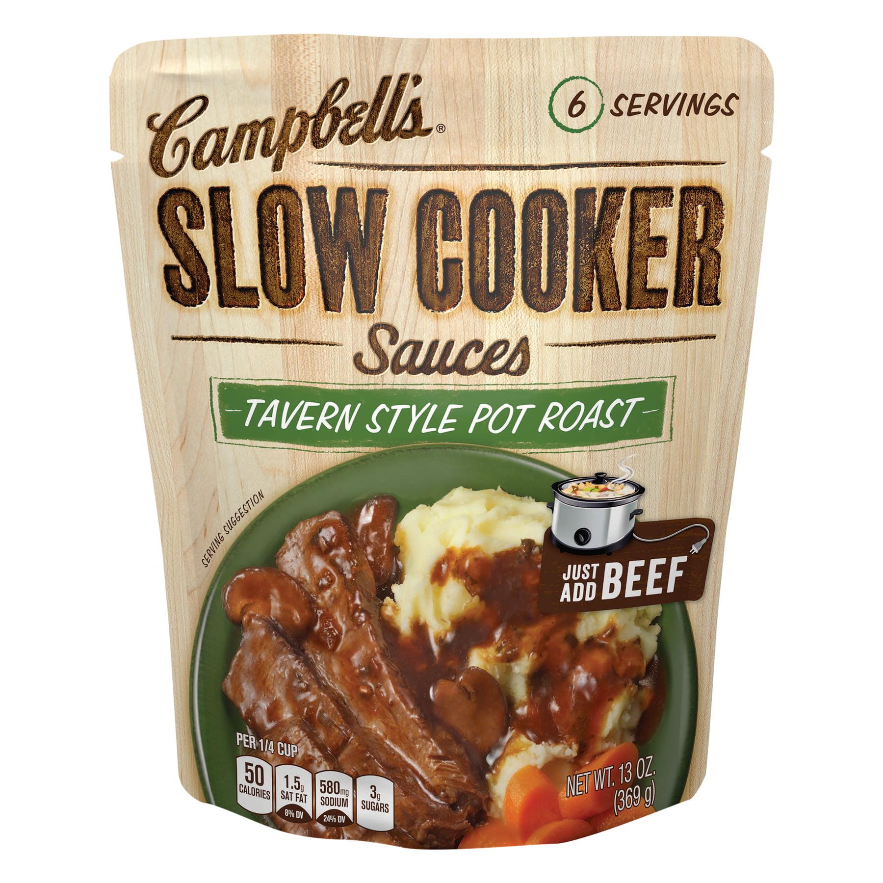 Campbell's® Slow Cooker Sauces Tavern Style Pot Roast, 13 oz., 13.0 OZ