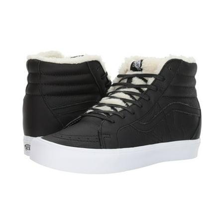 Vans Sk8 Hi White - Vans SK8 Hi Lite Reissue Sherpa Black/True White Men's Shoes Size 7.5