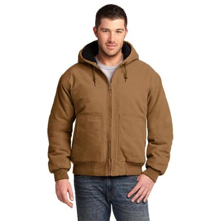 Cornerstone® Washed Duck Cloth Insulated Hooded Work Jacket. Csj41 Duck Brown S - image 1 de 1