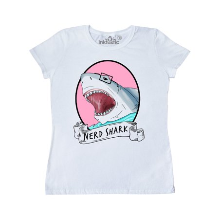 Nerd Shark Women's T-Shirt (Trendy Nerd)