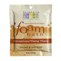 Aura Cacia Aromatherapy Foam Bath Cinnamon And Ylang Ylang, 2 Oz
