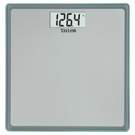 Glass Digital Bath Scale  Grey Blue  By Taylor Precision Products