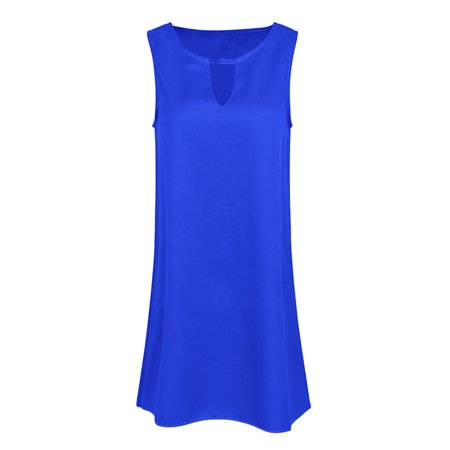 Summer Dresses for Plus Size Women Sleeveless Halter Neck Casual Beach Party Evening Cocktail Short Mini - Casual Halter Dress