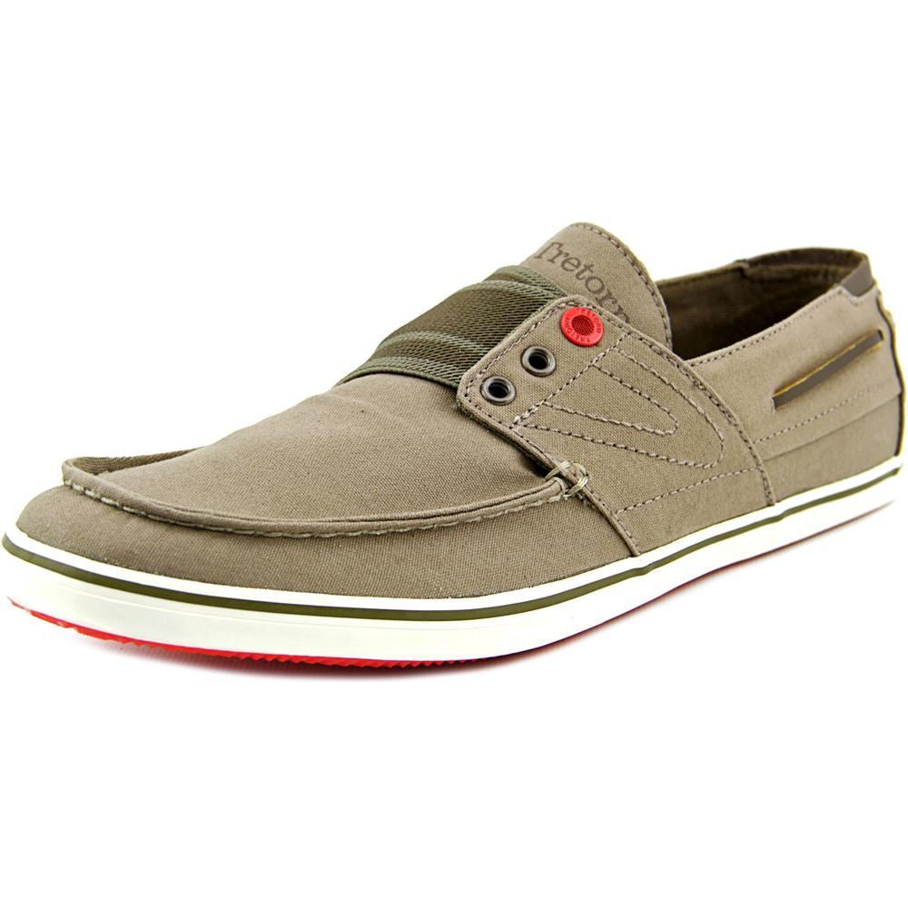 Tretorn Smogensson Men  Moc Toe Canvas Brown Boat Shoe