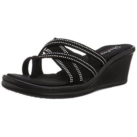 8503132fb238 Skechers - Skechers Women s Rumblers-Cali Spell-Studded Multi Strap Slide  with Memory Foam Wedge Sandal