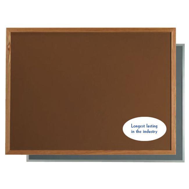 Aarco Products OW2436204 Vinyl Impregnated Cork - VIC - Bulletin Board - Dark Grey