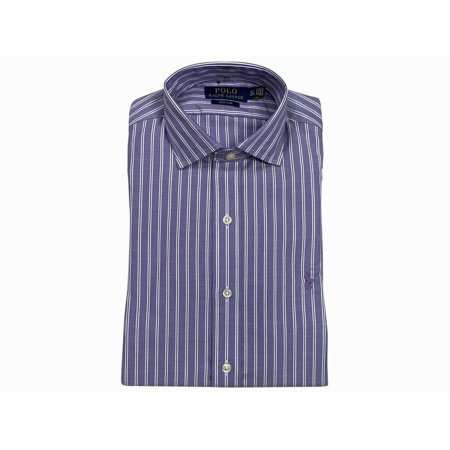 Ralph Lauren Polo Mens Spread Collar Easy Care Dress Shirt Grey New (17 1/2,34/35)
