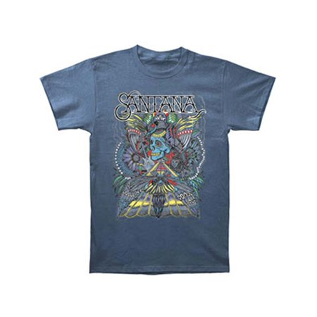 Santana Men's  Folk Skull T-shirt (Volcom Skull Stone)