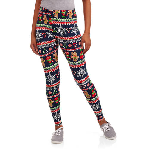 No Boundaries Juniors' Christmas Holiday Print Sueded Jersey ...