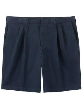 "George Men's 9.5"" Big & Tall Pleated Shorts"