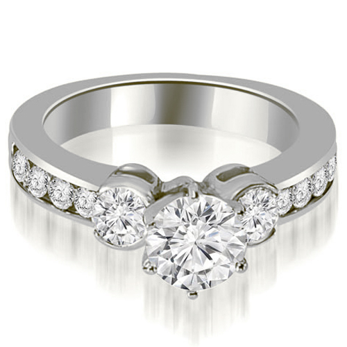 1.25 CT.TW Bezel Set Round Cut Diamond Engagement Ring in 14K White, Yellow Or Rose Gold
