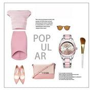 【MIARHB】LONGBO Brand Fashion Watch Women Luxury Ceramic And Alloy Bracelet Wristwatch ( watch for women )