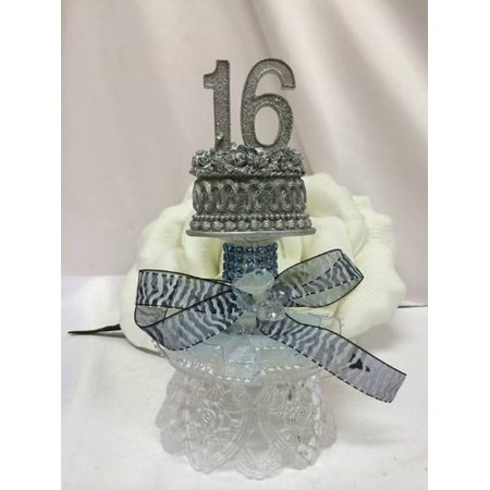 Sweet 16 Centerpiece Cake Topper Favor Table Decoration - Sweet 16 Centerpieces And Decorations