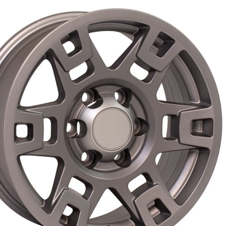 OE Wheels 17 Inch Fits Toyota Tacoma Sequoia FJ Cruiser Tundra 4Runner Lexus GX HL450 TRD H Spoke Style TY16 Satin Graphite 17x7 Rim Hollander 75167 ()
