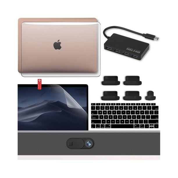 New MacBook Air 13 Inch Case 2020 2019 2018 with USB-C Hub ...