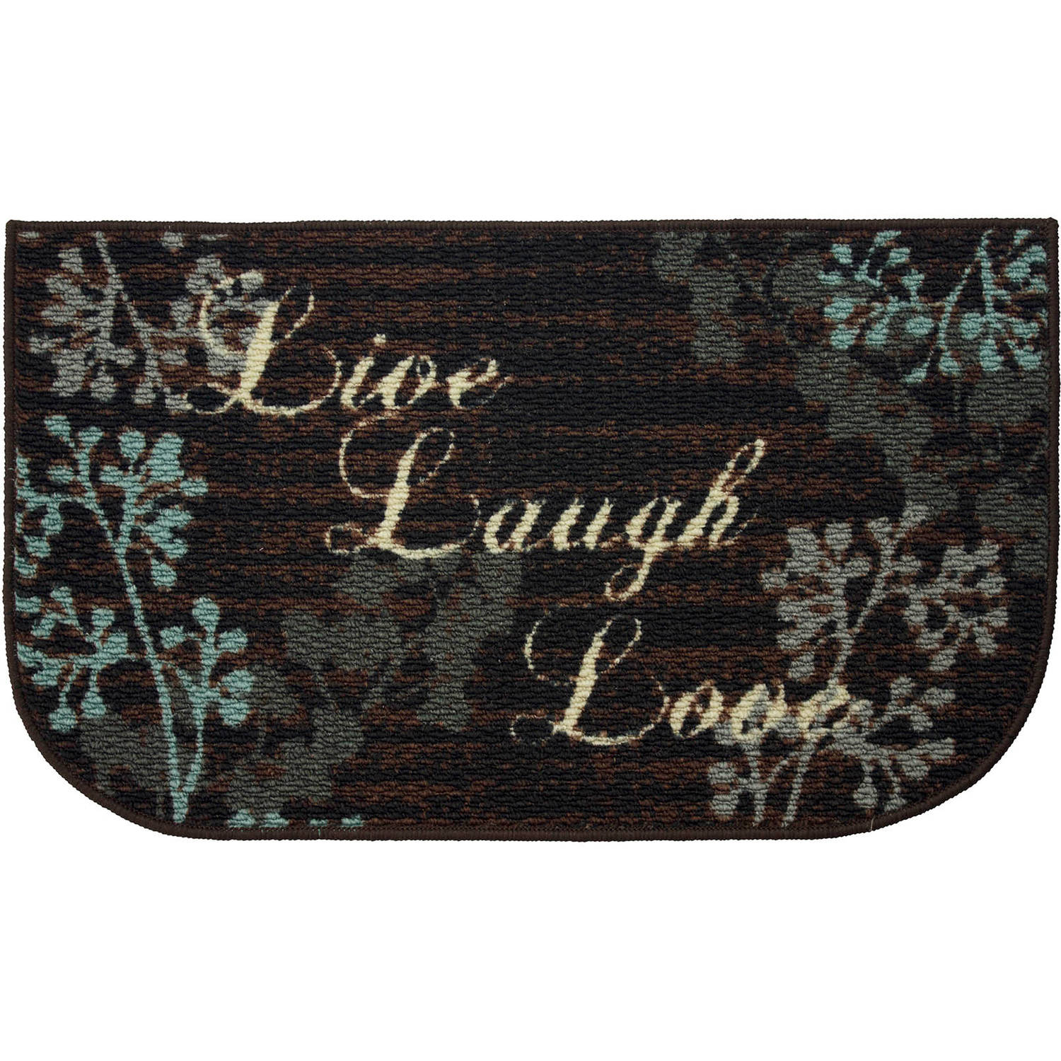 Structures Live Laugh Love Printed Textured Loop Kitchen Accent Rug