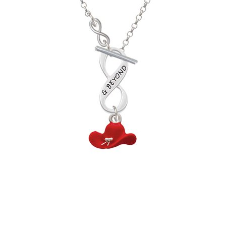 Red Cowboy Hat - To Infinity & Beyond Toggle Necklace