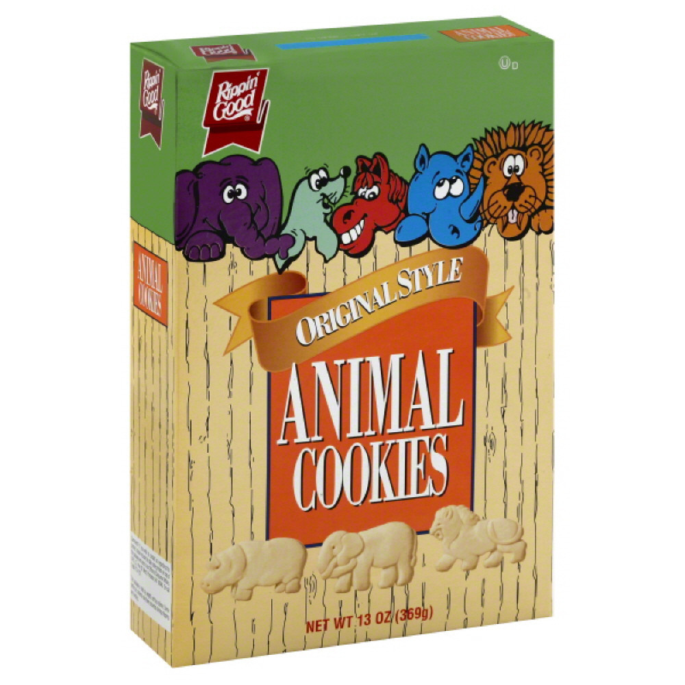Rippin Good Original Style Animal Cookies, 13 Oz (Pack of 12)